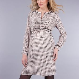 NWT | Seraphine Maternity Dress | Pink Black | 8
